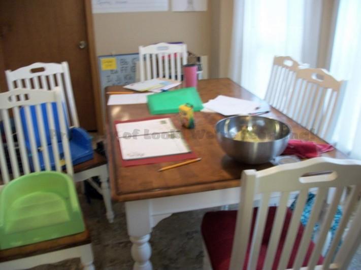 Empty School Table