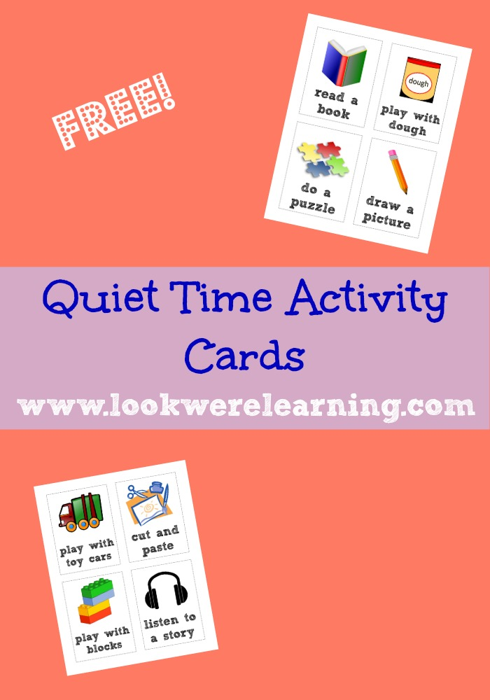 Quiet Time Activity Cards
