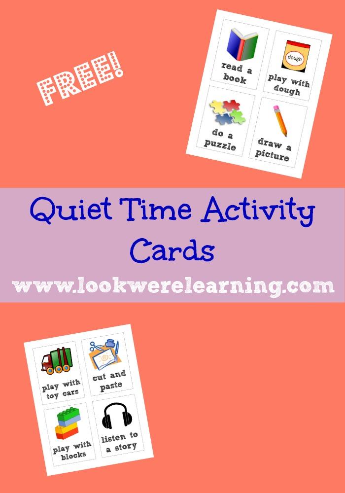 Quiet Time Activity Cards