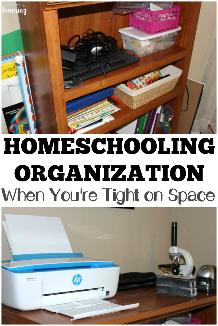 It is possible to homeschool multiple children in a small space! See how we make our small homeschool space work!