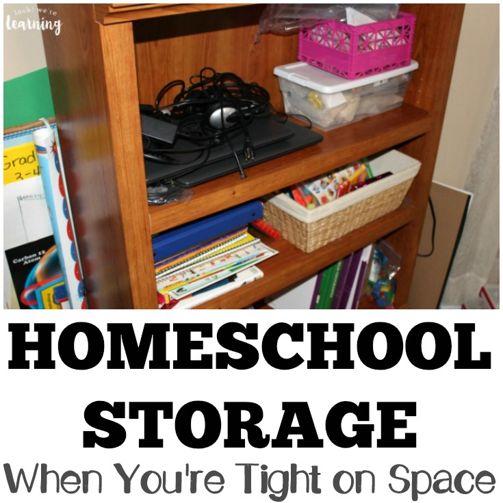 Small Homeschool Space Organization Ideas