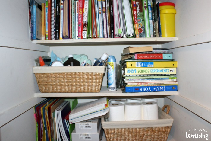 Storing Homeschool Books in a Sma
