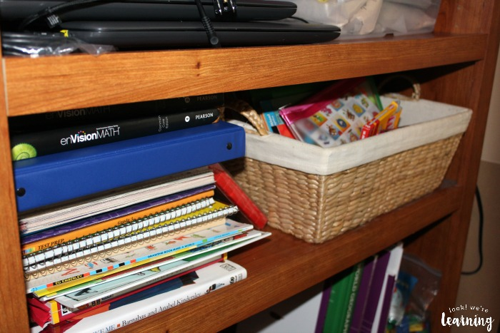 Storing Multiple Grade Level Resources Together for Homeschool