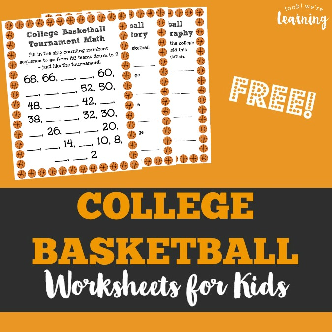 Basketball Worksheets for Kids - Look! We're Learning!