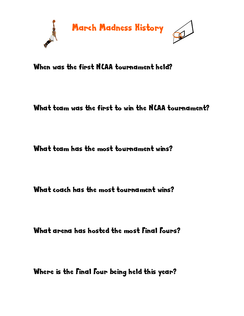 math worksheet : we re crazy for march madness!  look! we re learning! : Basketball Math Worksheets