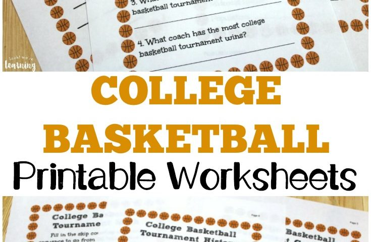 Free College Basketball Worksheets for Kids