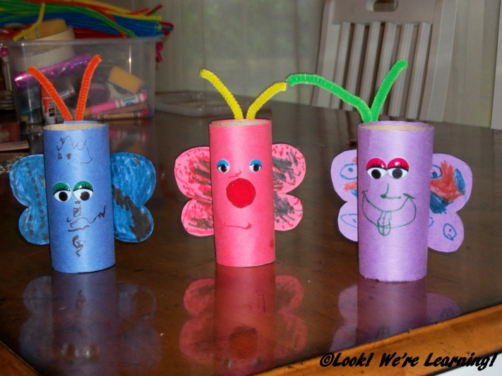 Toilet Roll Butterfly Craft for Kids