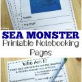 Pick up these printable sea monster notebooking pages to learn more about incredible creatures of the deep!
