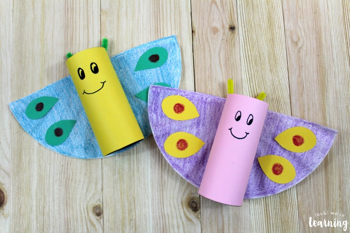 Simple Toilet Roll Butterfly Craft for Kids