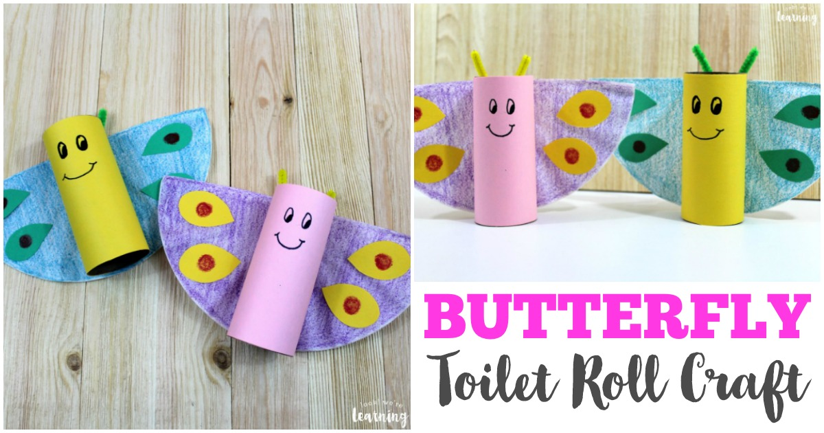 Toilet Roll Butterfly Craft Look We Re Learning