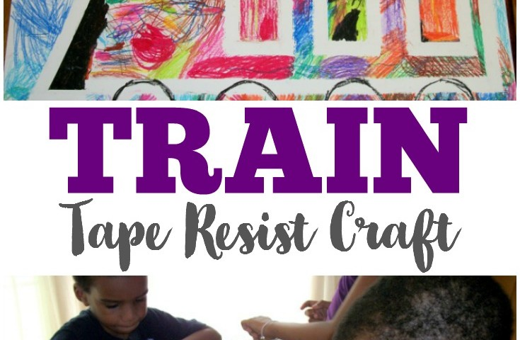 Simple Train Tape Resist Craft