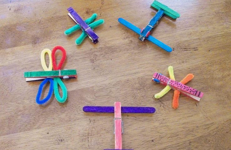 Bee Crafty Kids #15: Clothespin Crafting