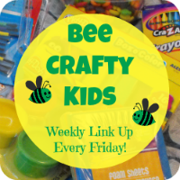 Bee Crafty Kids Link Up #14: Tissue Paper Mosaic