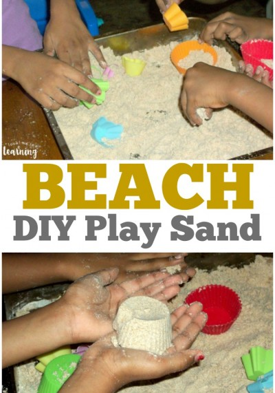 Make this DIY play sand for some beach fun at home!