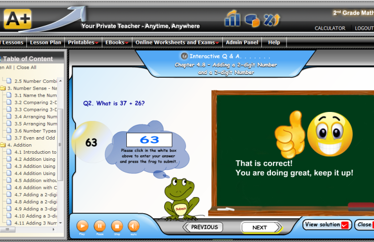 Our Math Program for 2013-14: A+ TutorSoft