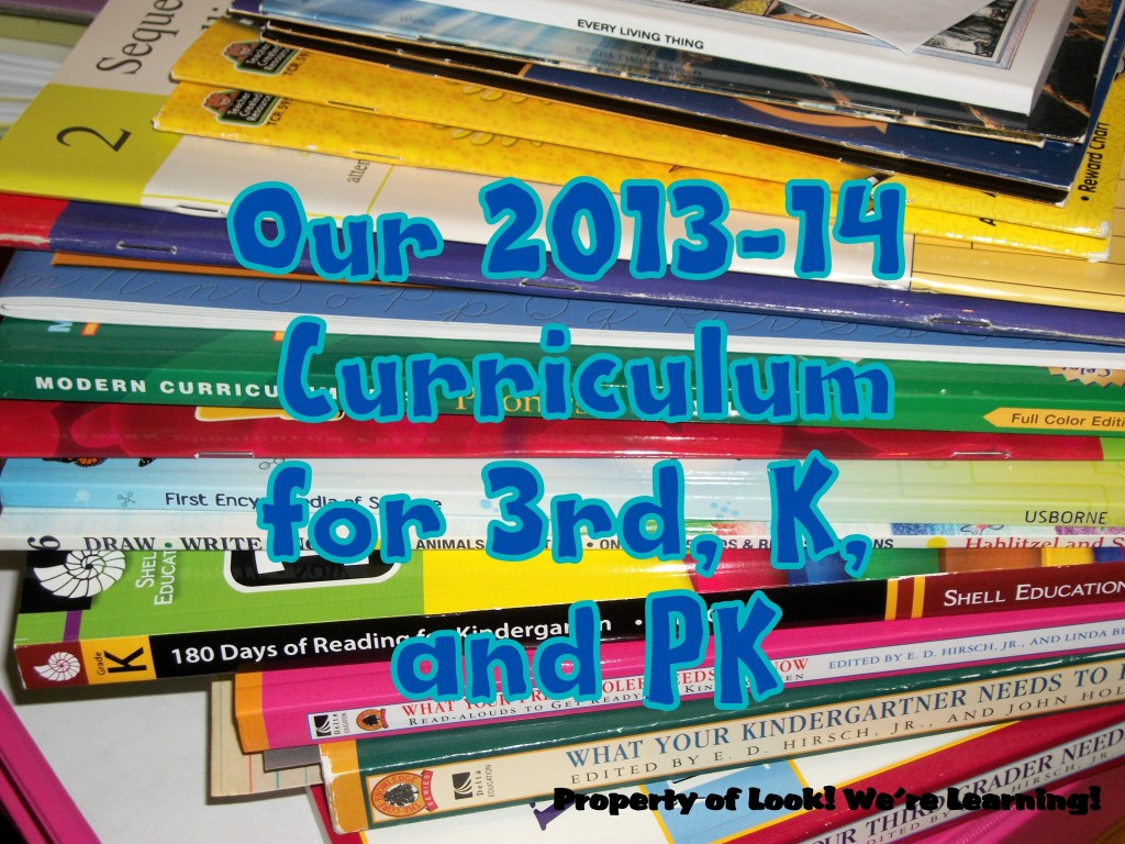 Our 2013-14 Curriculum: Look! We're Learning!