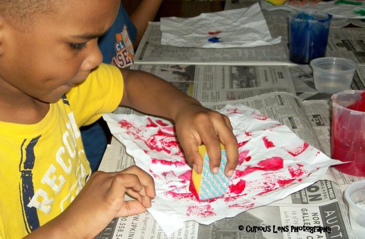 Textured Sponge Painting: Look! We're Learning!