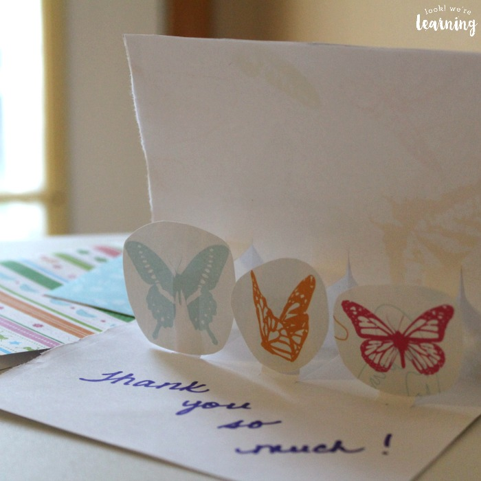 Easy DIY Pop Up Thank You Cards
