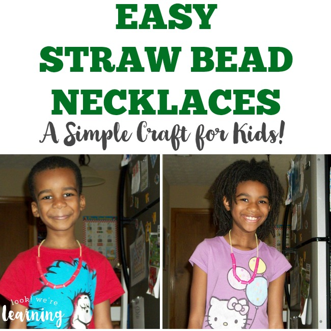 Easy Straw Bead Necklace Craft for Kids