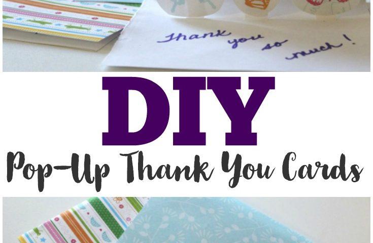 DIY Pop Up Thank You Cards