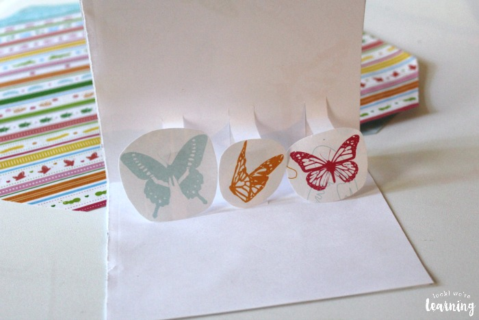 Making Pop Up Thank You Cards from Scrapbook Paper