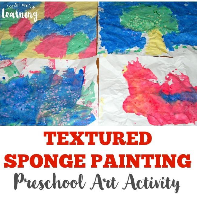 Textured Sponge Painting Preschool Art Activity