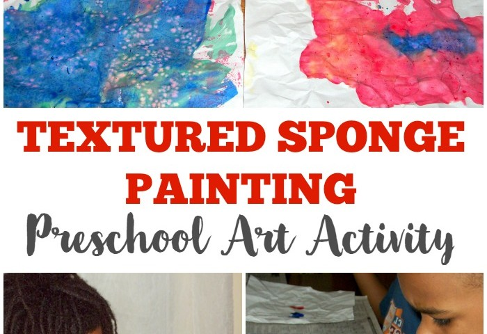 Textured Sponge Painting Preschool Craft