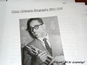 Dizzy Gillespie Biography Mini-Unit: Look! We're Learning!