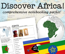 Discover Africa Notebooking Set