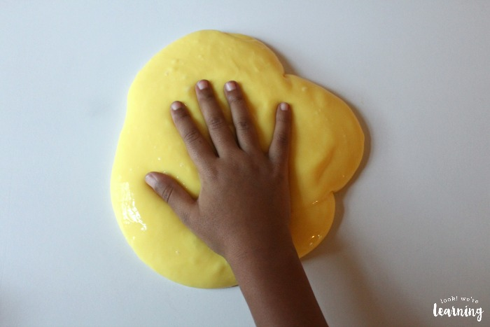 Making DIY Flubber for Kids