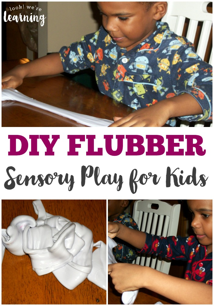 This DIY flubber is a simple, low-prep sensory activity for kids!