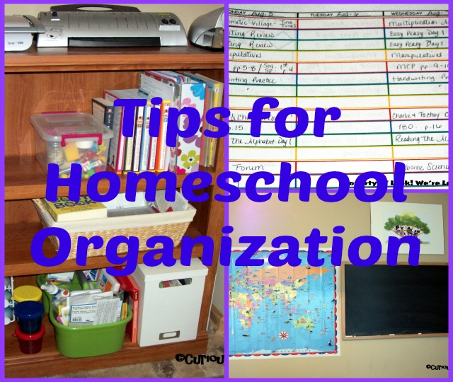 Tips for Homeschool Organization: Look! We're Learning!