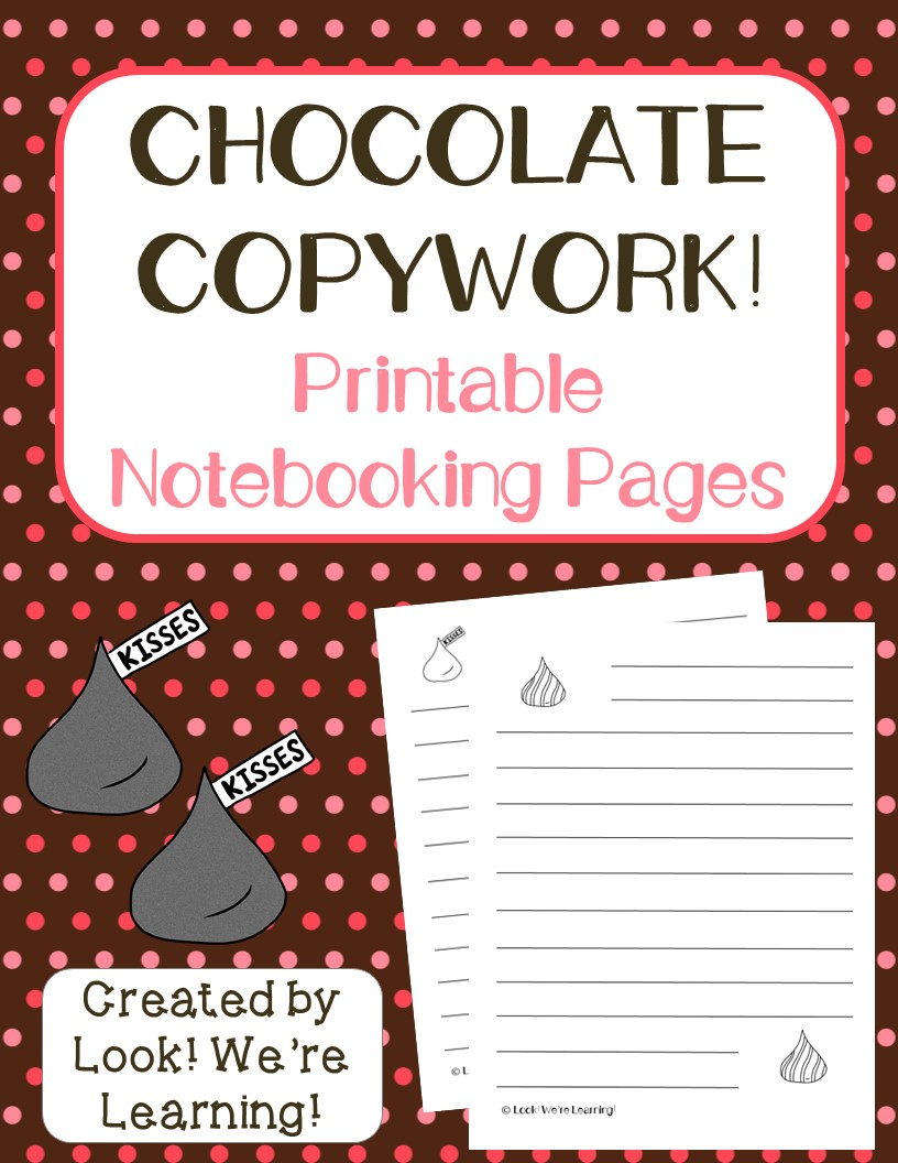 Chocolate Notebooking Pages