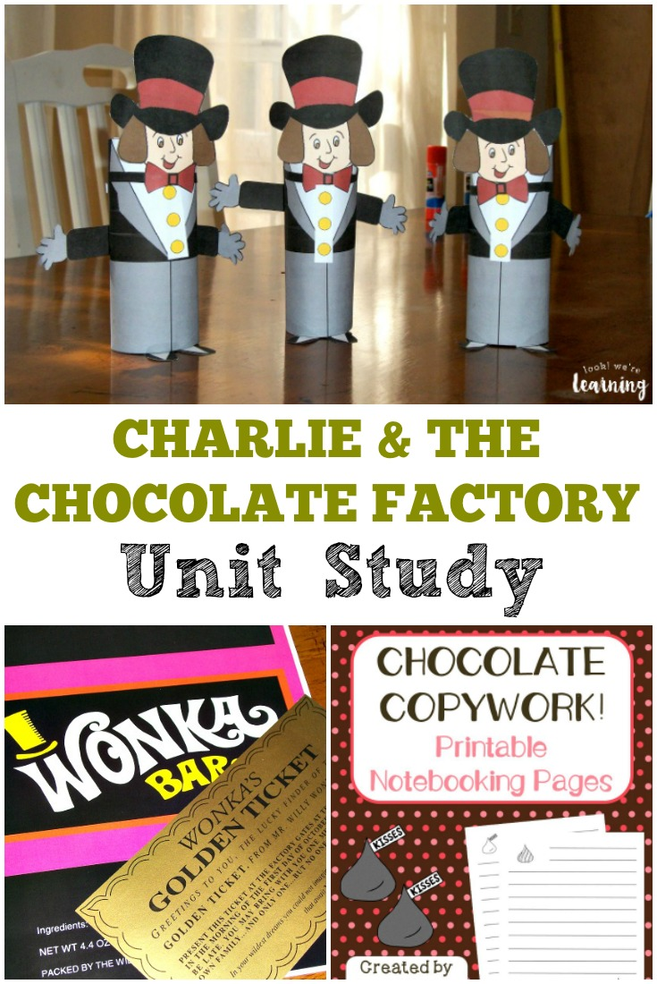 This Charlie and the Chocolate Factory Unit Study is a perfect way to help kids learn with this fun children's movie!