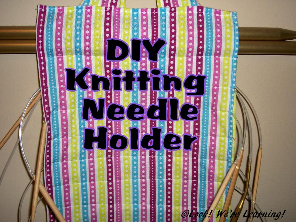 Knitting Needle Storage Diy : Crafty kids diy knitting needle holder look were