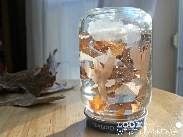 Baby Food Jar Fall Snow Globe