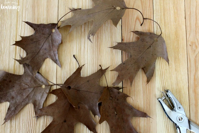 Easy Fall Leaf Garland Craft