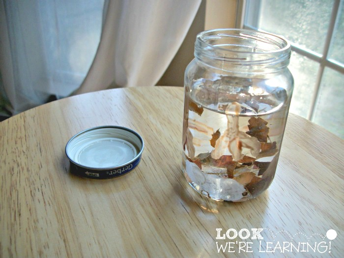 Easy Fall Snow Globe Craft