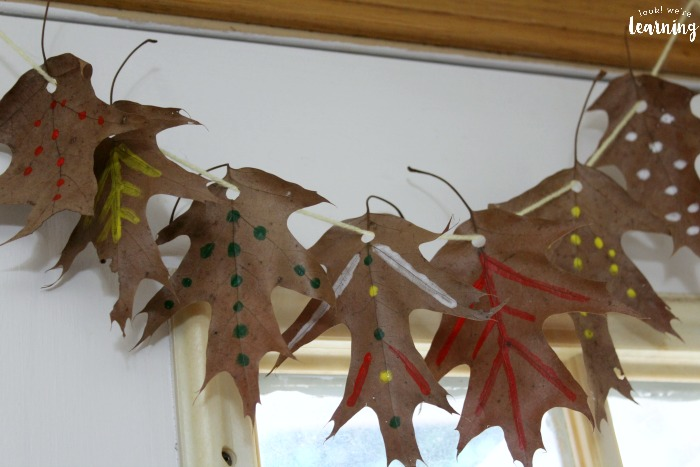 Easy Painted Fall Leaf Garland Craft