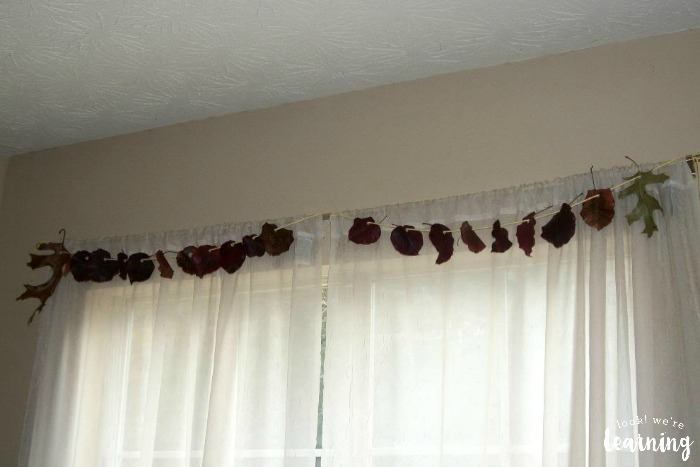 Hanging a Fall Leaf Garland