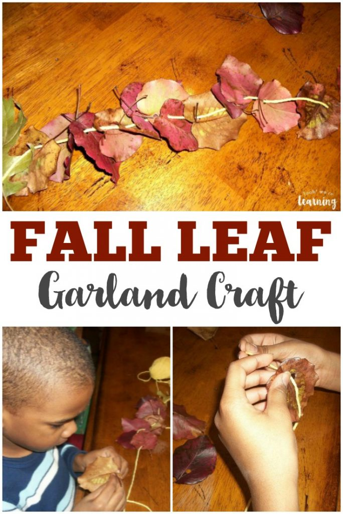 Make some autumn memories with this easy DIY fall leaf garland kids can make!