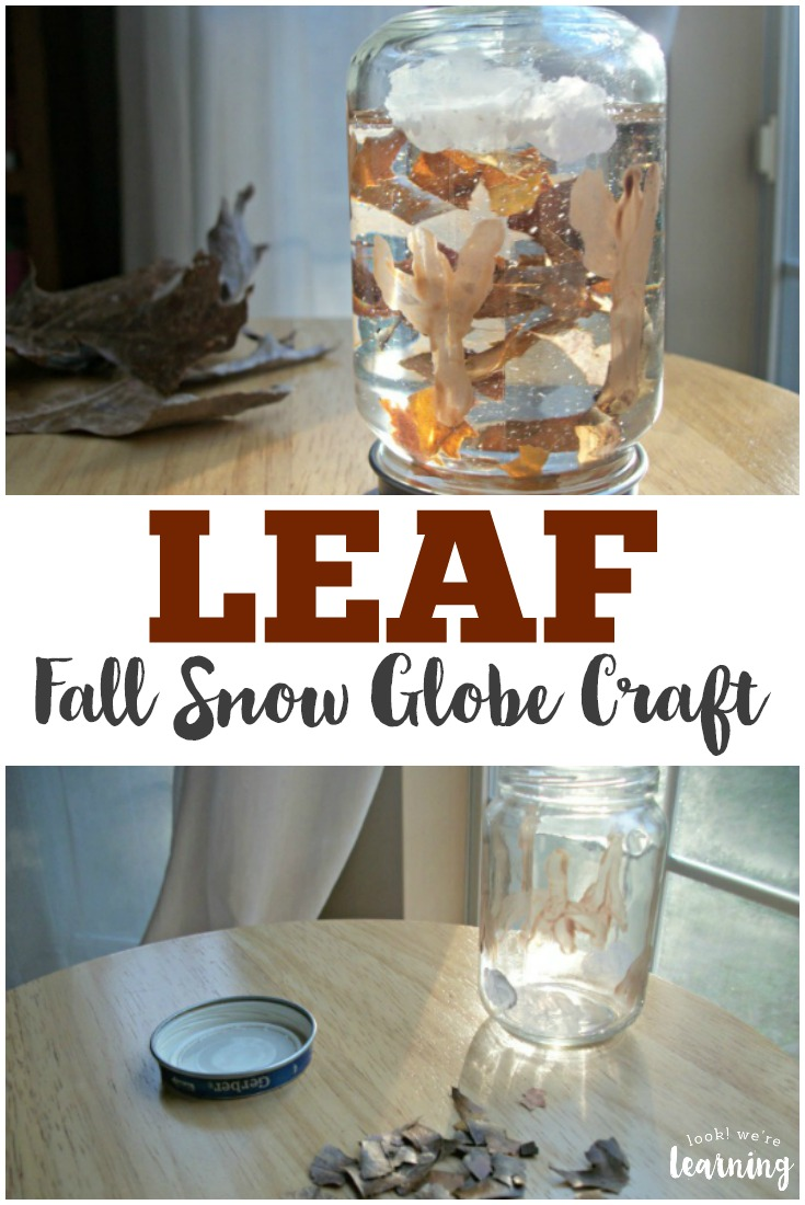 Make this easy and lovely fall snow globe craft to celebrate autumn with the kids!