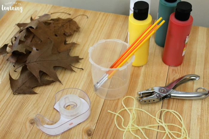 Making an Easy Fall Leaf Garland
