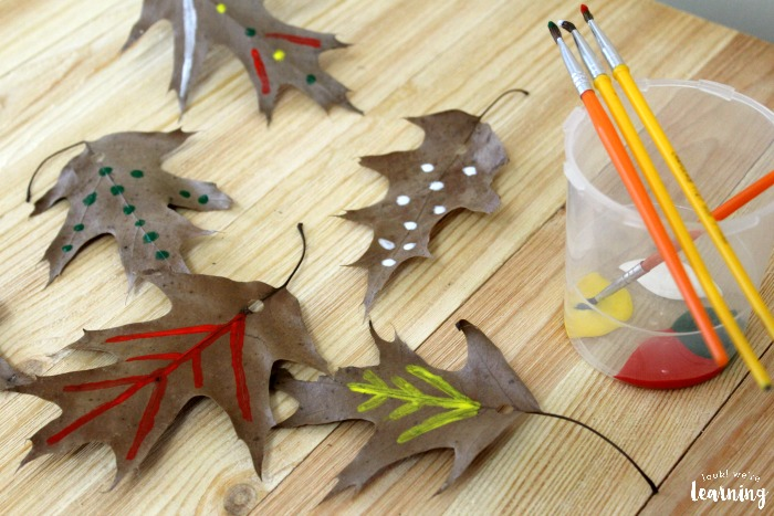 Simple Fall Leaf Garland Craft for Kids to Make