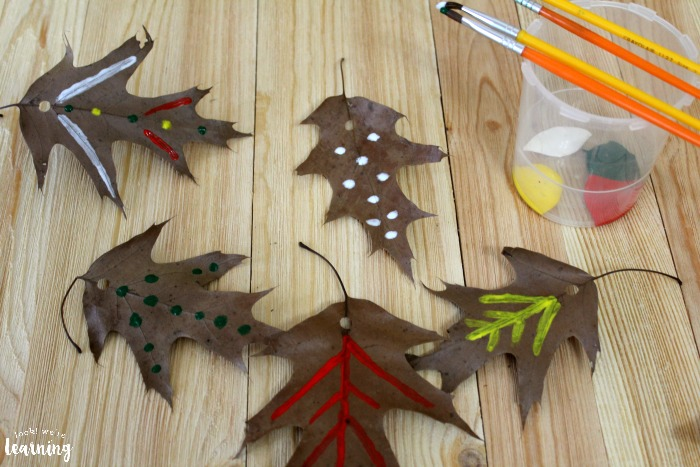 Simple Fall Leaf Garland Craft for Kids