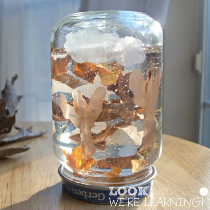 Simple Fall Snow Globe Craft