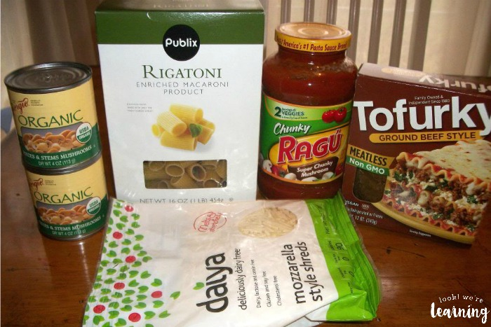 Crockpot Vegan Rigatoni Ingredients