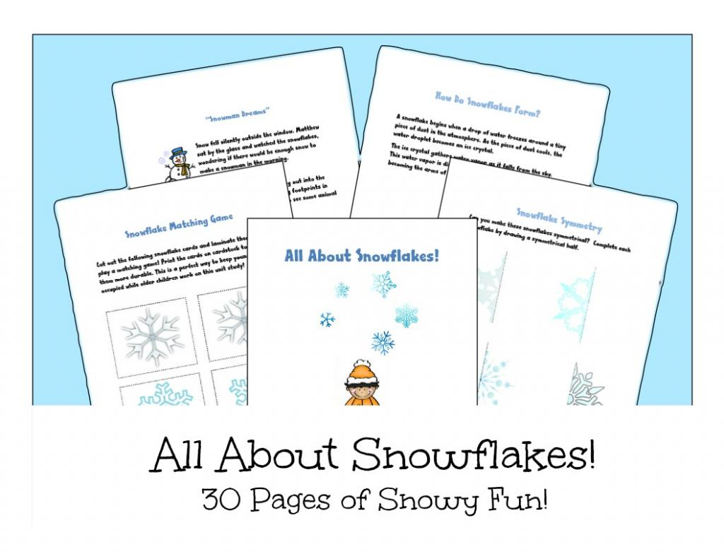 Free Printable Snowflake Unit Study - Look! We're Learning!