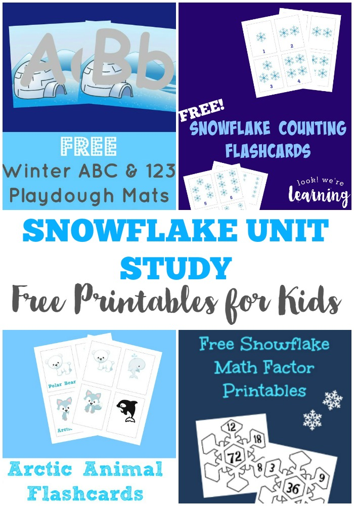 Make your own free printable snowflake unit study with these resources!