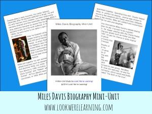 Printable Miles Davis Mini-Unit @ Look! We're Learning!